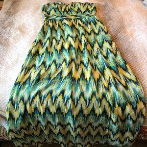 Harper strapless maxi dress